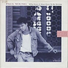 """Paul Young Why does a man have to be strong (1986, poster cover)  [7"""" Single]"""