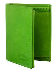 Günstige Herren Geldbörse Leder Grün Hochformat Portemonnaie Brieftasche