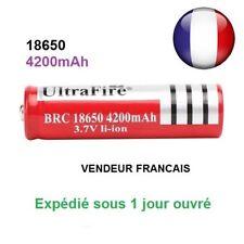 Batterie rechargeable pile accus 4200 mAh 3.7V Li-ion 18650 led