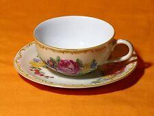 Hutschenreuther Roloff Teegedeck Teetasse handgemalt Deutsche Wertarbeit - RAR