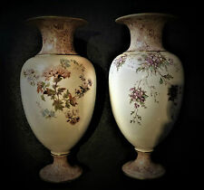 A pair of Extremely Early ROYAL Doulton Burslem Vases