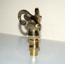 Brass Handle Golden Goat Style Head Handle Handmade For Top Topper Walking Stick