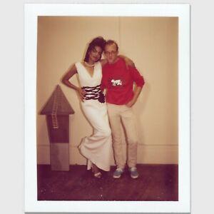 Andy Warhol Rare Vintage 1983 Original Keith Haring w/ Model Polaroid FA12.00810