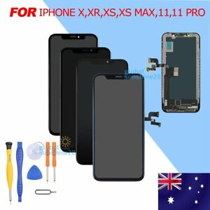 DISPLAY LCD OLED For iPHONE X XR XS MAX 11 TOUCH SCREEN DIGITIZER REPLACEMENT