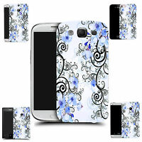 Motif case cover for All popular Mobile Phones - blue cluster flowers