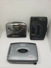 Cassette Player lot of 3 sony and rcaWm fx38 wm fx251 rp-1810a as is for parts