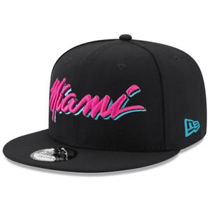 Miami Heat New Era NBA Vice City Script 9FIFTY Snapback Hat - Black
