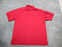 Adidas Miami Heat Polo Shirt Adult Extra Large NBA Basketball Dri Fit Red S