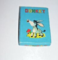 Vintage Educational Card Game for Learning Beginning Sounds Donkey