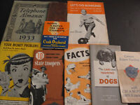 LOT OF (9) VINTAGE BOOKLETS, Etc.- Useful for Family Life- from 1922 to 1950's !