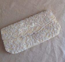 Evening Handbag  Beads Sequin Clutch Bag Purse Party Bridal Wedding