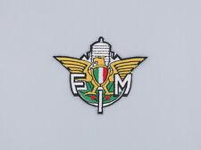 """PATCH TOPPA """"FMI Federazione Motociclistica Italiana"""" RICAMATA TERMOADESIVA"""