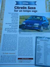 Citroen Saxo 1996 Fiche Technique Auto