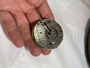 Elgin scarce Stripped Pattern 349 21 jewel pocket watch movement 18 size