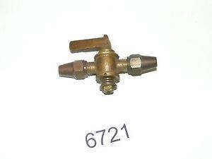 Vintage Ottone Spegnimento Valvola Spegnimento Gallo Per 0.6cm Tubature