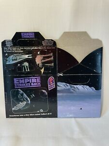 1997 Taco Bell Star Wars Themed Kids Meal Box - Special Edition - Foil Lettering