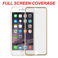 100% Genuine Tempered Glass Screen Protector Edge to Edge Gold For iPhone8 Plus