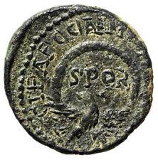 "Severus Alexander AE22 of Caesarea Maritima in Judea ""Eagle, SPQR Wreath"" VF"