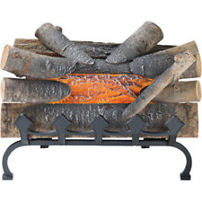 Electric Fireplace Log Crackling Natural Wood Stove Firewood Grate Decor Insert