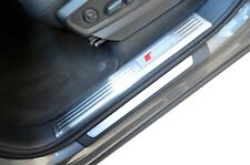 Audi Q7 S-line 15-18 Inner Door Sill Panel Scuff Kick Plate Protector Extra Wide