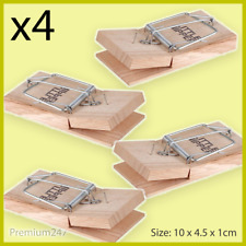 4 X GENUINE LITTLE NIPPER WOODEN MOUSE TRAPS PEST STOP MOUSE TRAP Easy to use