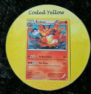 26/149Emboar | Pokémon BW Boundaries Crossed | Rare HOLO Card | Light Play