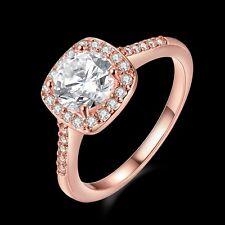 Luxury Women's/Men's Ring 18K Rose Gold Filled Fashion Jewelry Size 9