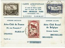 France 1930 E.I.P.A. 30 perfin on expo flight cover to Belgium, C6b, $450