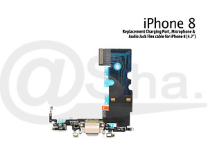 """Charging Dock Port & Mic & Headphone Jack Flex Cable For iPhone 8 (4.7"""")"""