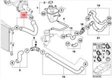 Mini Cooper S R50 Radiator Coolant Hose 1.6 Petrol 120KW 17121475565 NEW GENUINE