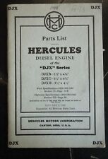 "1948 HERCULES DIESEL ENGINE PARTS LIST... ""DXL"" SERIES.. 6 CYLINDER ENGINE"