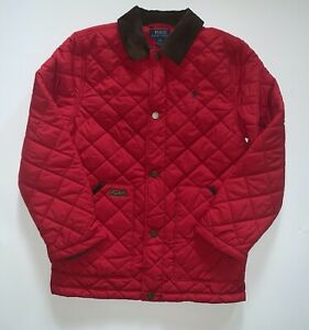 New Polo Ralph Lauren Boys Quilted Corduroy Jacket Size Large (14-16) MSRP $125