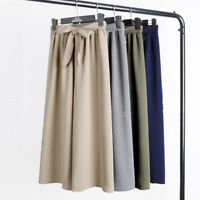 Women Wide Leg High Waist Elastic Pants Casual Loose Palazzo Trousers Yoga Pants