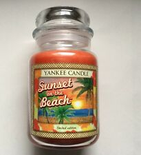Yankee Candle ALOHA COLLECTION SUNSET AT THE BEACH 22 oz JAR RETIRED HTF HAWAII