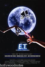 E.T. EXTRA TERRESTRIAL MOVIE POSTER DS 20th Ann. ORIGINAL FINAL  27x40
