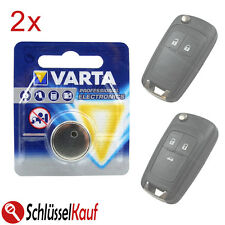 2x VARTA Autoschlüssel Batterie für Opel Astra J Corsa E Insignia Vectra Zafira