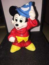 VINTAGE COLLECTABLE DISNEY MICKEY MOUSE FANTASIA SORCERER PORCELAIN FIGURINE