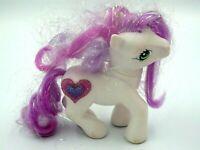 Figurine jouet fille My little Pony 11 cm HASBRO 2002 blanc coeur