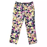Anthropologie Cartonnier Miniflora Floral Printed Charlie Trouser Pants Size 4