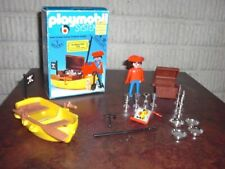 Vintage Playmobil 3570 Pirate and Rowboat SCARCE FOREIGN BOX