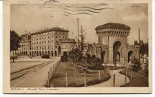 1934 Bologna Piazzale Porta Saragozza tram auto d'epoca Guller FP B/N VG ANIM