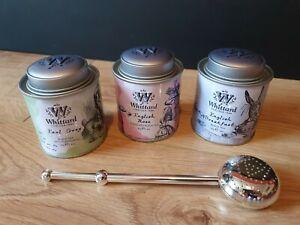Whittard : Alice : 40g Earl Grey English Rose Breakfast Tea Tin Caddy & Infuser