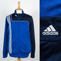 Adidas pour Hommes Veste Haut de Survêtement Bleu Trois Rayure Sport Allemand