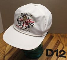 VINTAGE RICK MEARS SNAP-ON PERFORMANCE TEAM HAT WHITE ADJUSTABLE VGC D12