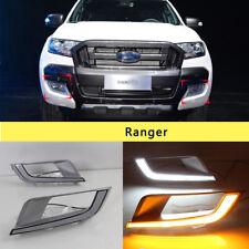 For Ford Ranger Mk2 Wildtrak 15-20 LED Car Front Daytime Running Light Turn Lamp