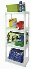 Plano 917702 4-Tier Heavy Duty Plastic Shelves - White