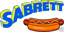 "Sabrett Hot Dogs Concession Decal 14"" Hotdog Restaurant Food Truck Vinyl Menu"