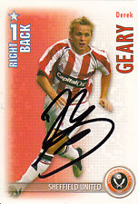Sheffield United Derek Geary Hand Signed 06/07 Premiership Shoot Out Card.