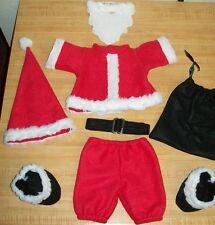 "16-18""CPK Cabbage Patch Kids CHRISTMAS SANTA top pants boots belt hat bag beard"