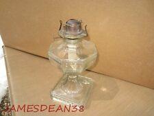 GREEK KEY CLEAR CRYSTAL OIL KEROSENE LAMP LANTERN
